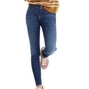 Madewell Medium Wash Mid Rise Skinny Jeans In Ames